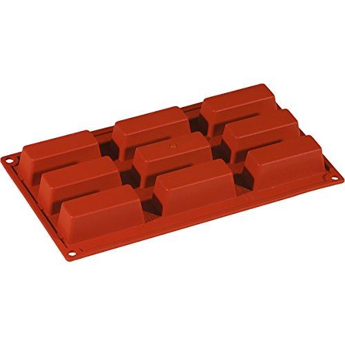 Paponi Lot de 9 moules carrés en silicone 80 x 30 x 30 mm