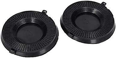 2x Juego de filtros de carbón activado para campana extractora para AEG 9029793610 EHFC48 Typ48 Whirlpool 48400000008783 Indesit C00384665