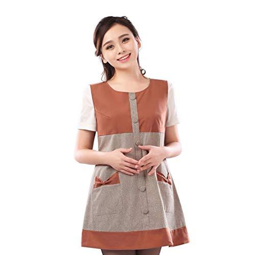 Lhlxs Vêtements de maternité Gilet Protection Contre Les radiations Argent Fibre Protection Contre Les radiations des ménages Casual Wear,L