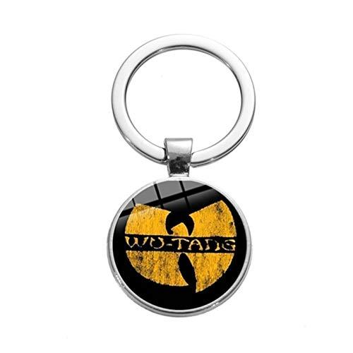 Hjdmcwd Schlüsselbund Kühle Wu-Tang Clan Logo Charm Keychain Hip Hop Rap Musiker berühmte Band Motorrad-Auto-Schlüsselanhänger Hipster Fans Geschenk Tränke (Color : Style 8)