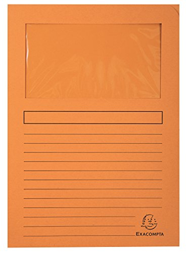 Exacompta venstermappen, verpakking, 25 stuks, met organisatieprint van gerecycled karton 120 g, forever, DIN A4 Verpakking van 25 stuks. 25er Pack oranje