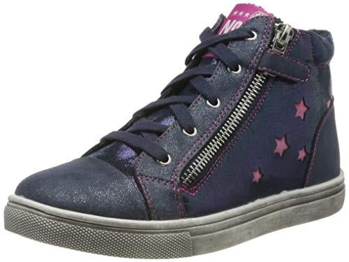 Indigo Mädchen 452 065 Hohe Sneaker, Blau (Navy 836), 34 EU