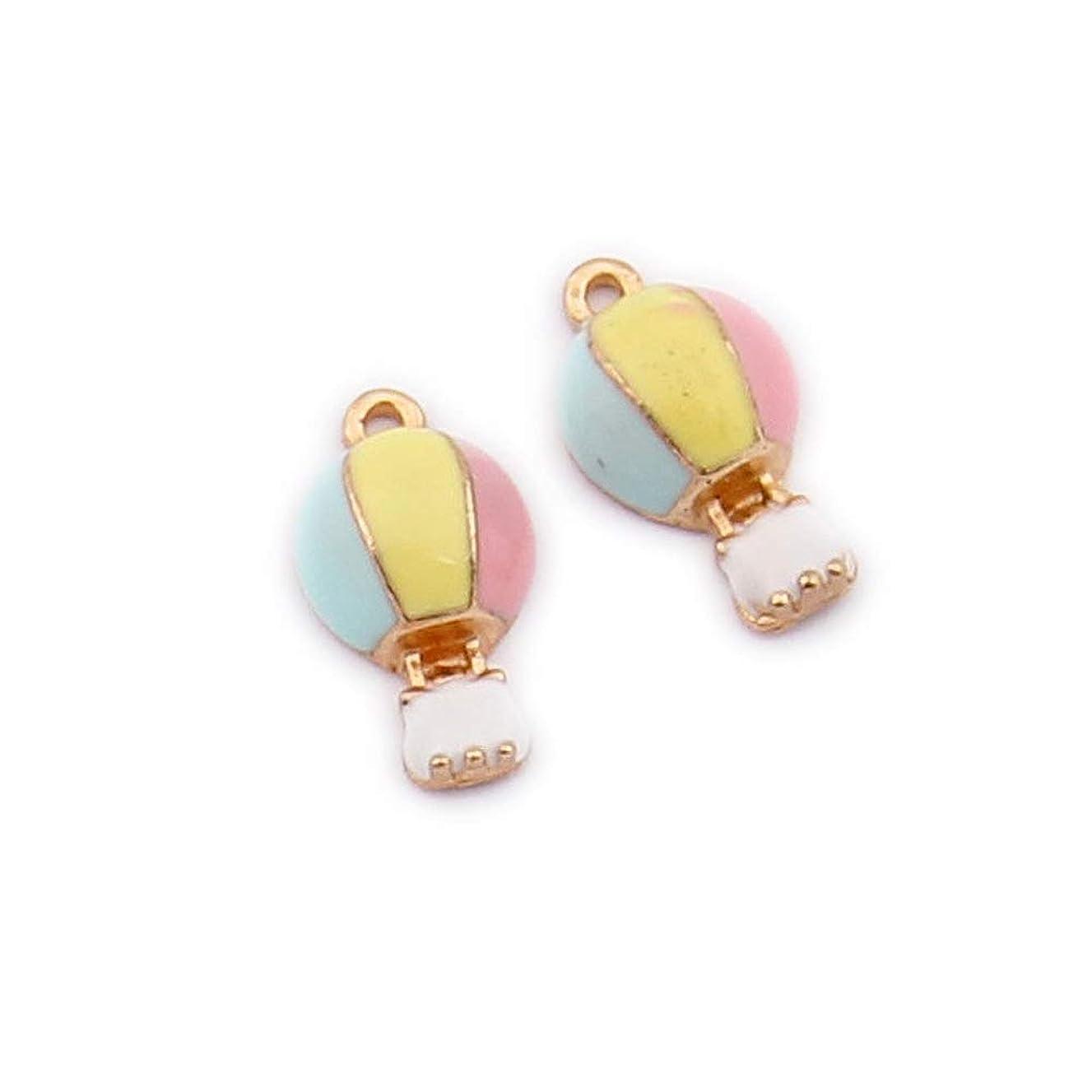 M336-E 9pcs New Cute Assorted Little Hot-air Balloon Shoe Bracelet Charms Pendants Wholesale