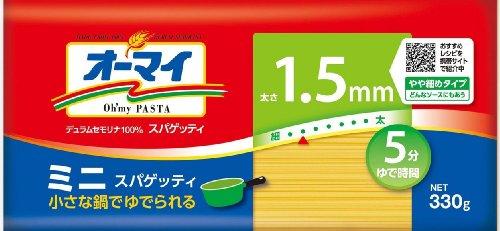 日本製粉 オーマイ ミニスパゲッティ 1.5mm 袋330g [3053]