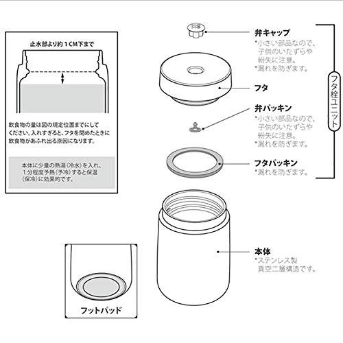 MOMOCONCEPT(モモコンセプト)真空断熱キューブスープ&フードジャー350ml(ローリエグリーン)
