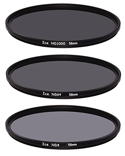 Hielo Slim Filtro ND–Juego de 58mm. ND1000ND645810, 6de densidad neutra ND8, 3paradas vidrio óptico