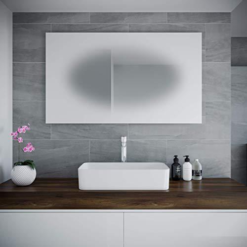 Spiegel ID ZUSATZOPTION für LED Badspiegel   Spiegelheizung inkl. Schalter (um dem Beschlagen vorzubeugen)   Schalterposition: linkte Spiegelkante