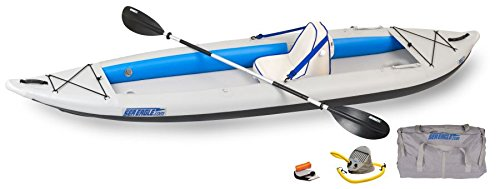 Sea Eagle 385FT FastTrack Deluxe Solo Inflatable Kayak 12'6'