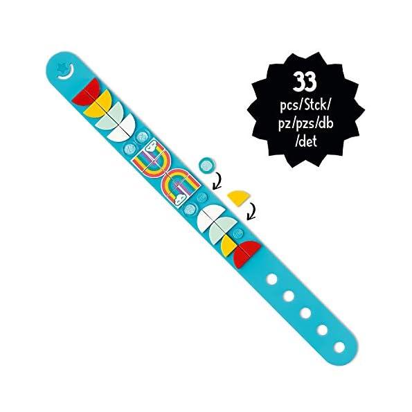 LEGO-Dots-Braccialetto-Arcobaleno-Kit-di-Gioielli-Creativi-con-32-Applicazioni
