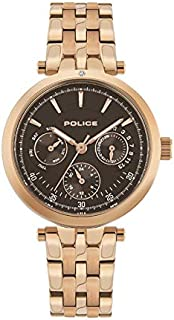 Police Sesma Analogue Rose Gold Case, Brown Dial And Rose Gold Watch For Women - PL 15890BYR-12M