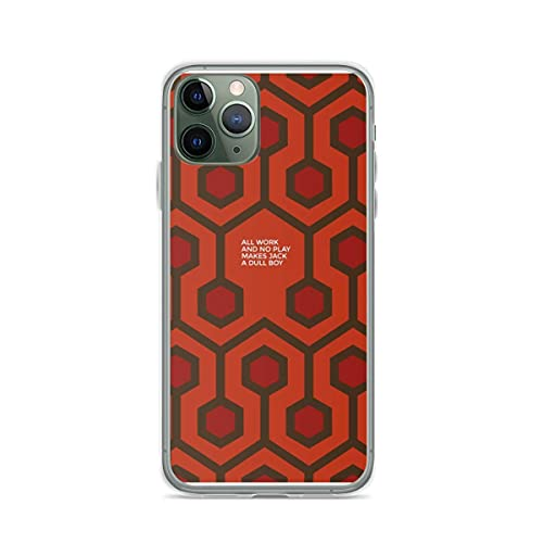 Pure Clear Cajas del Teléfono All Work and No Play Makes Jake A Dull Boy Compatible for iPhone 12 11 Pro MAX Mini SE 2020 X/XS MAX XR 8 7 6 6s Plus Funda