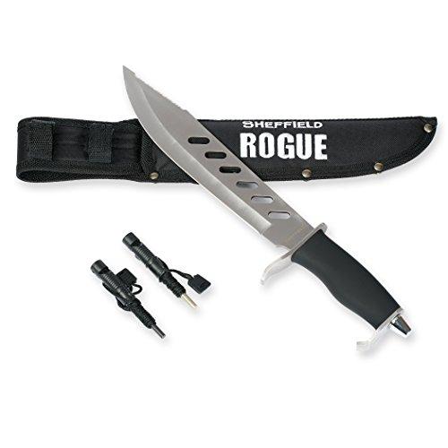 Mossy Oak Sheffield Rogue 10-inch Fixed Blade Hunting Knife W/Bonus Sheath Firestarter Sharpener
