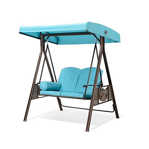 PURPLE LEAF 2-Seat Deluxe Outdoor Patio Porch...