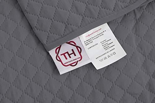 textil-home Salvadivano Trapuntato Copridivano Adele 4 posti Reversibile. Colore Grey