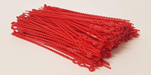 Blitzbinder - Kugelbinder - Mehrzweckbinder - Kabelbinder - 180mm Rot 200Stck. - Premiumqualität von PC24 Shop & Service