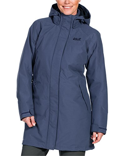 Jack Wolfskin Damen 3-in-1 Mantel Ottawa Coat, Blue Indigo, L, 1100923-1096004