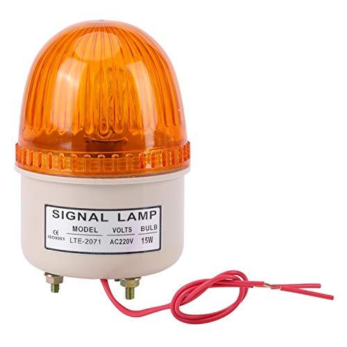 KUIDAMOS AC 220V 15W LED Blitzlicht Warnlampe Industrielle Werkzeugmaschine Rot Grün Blau Gelb, Sicherheitsblitzlicht, Alarmlampe für den Fabrikbau(Gelb)
