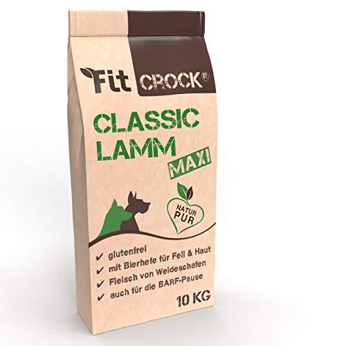 cdVet Fit-Crock Hundefutter trocken Classic Lamm Maxi 10 kg, glutenfrei