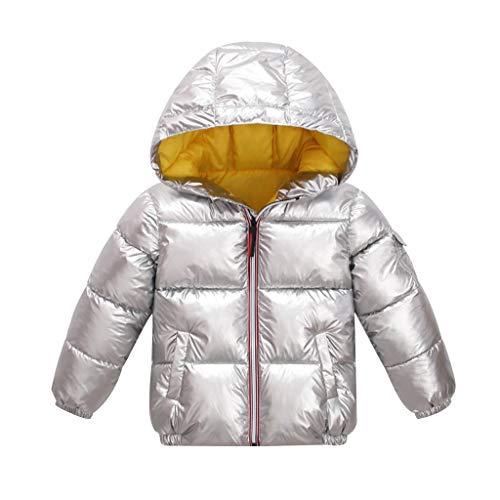 Lingery Toddler Kids Baby Grils Boy Outdoor Waterproof Coat Jacket Overcoat Outwear Silver