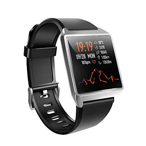 Orologi Da Polso,Smart Watch Orologio Da Polso Multifunzionale Con Cinturino In Silicone Per La Misurazione Della Pressione Arteriosa, Nero