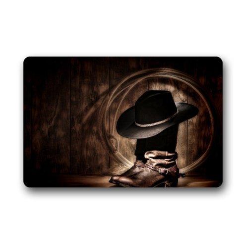 N/A Bruin Cowboy Laarzen Entree Mat, Binnen/buiten Deurmat, Deurmatten 23.6''(L) x 15.7''(W)