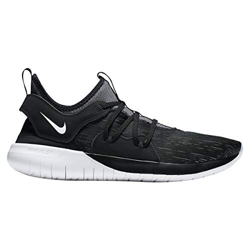 Nike Men's Flex RN 2019 Running Shoe (9.5 M US, Black/White)