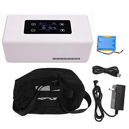SHKUU Enfriador insulina portátil Refrigerador medicamentos pequeños, Pantalla LED, refrigerador USB con batería, refrigerador medicamentos para Cuidado en hogar para Caja Viaje en automóvil, hogar