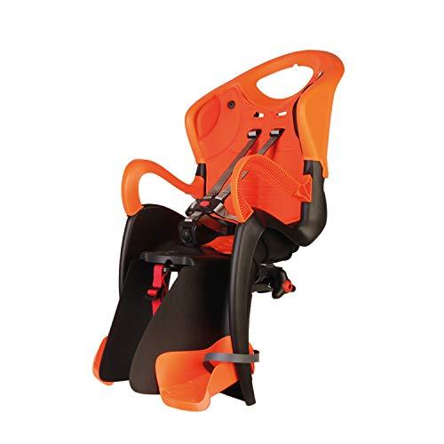 b bellelli Tiger - Seggiolino Posteriore per Bicicletta - per Bambini Fino a 22 kg, da 3 a 8 Anni - Si Fissa al Portapacchi - Arancione Nero
