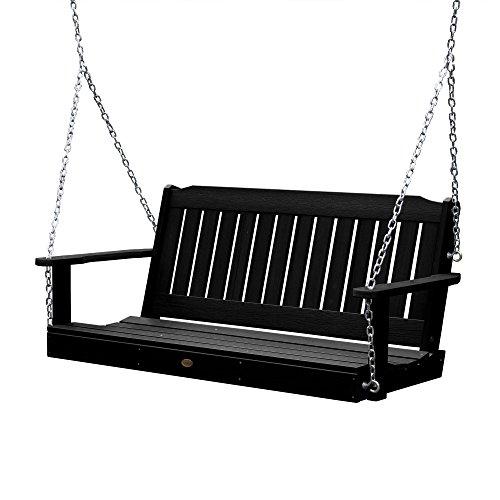 Highwood AD-PORL1-BKE Lehigh Porch Swing, 5 Feet, Black