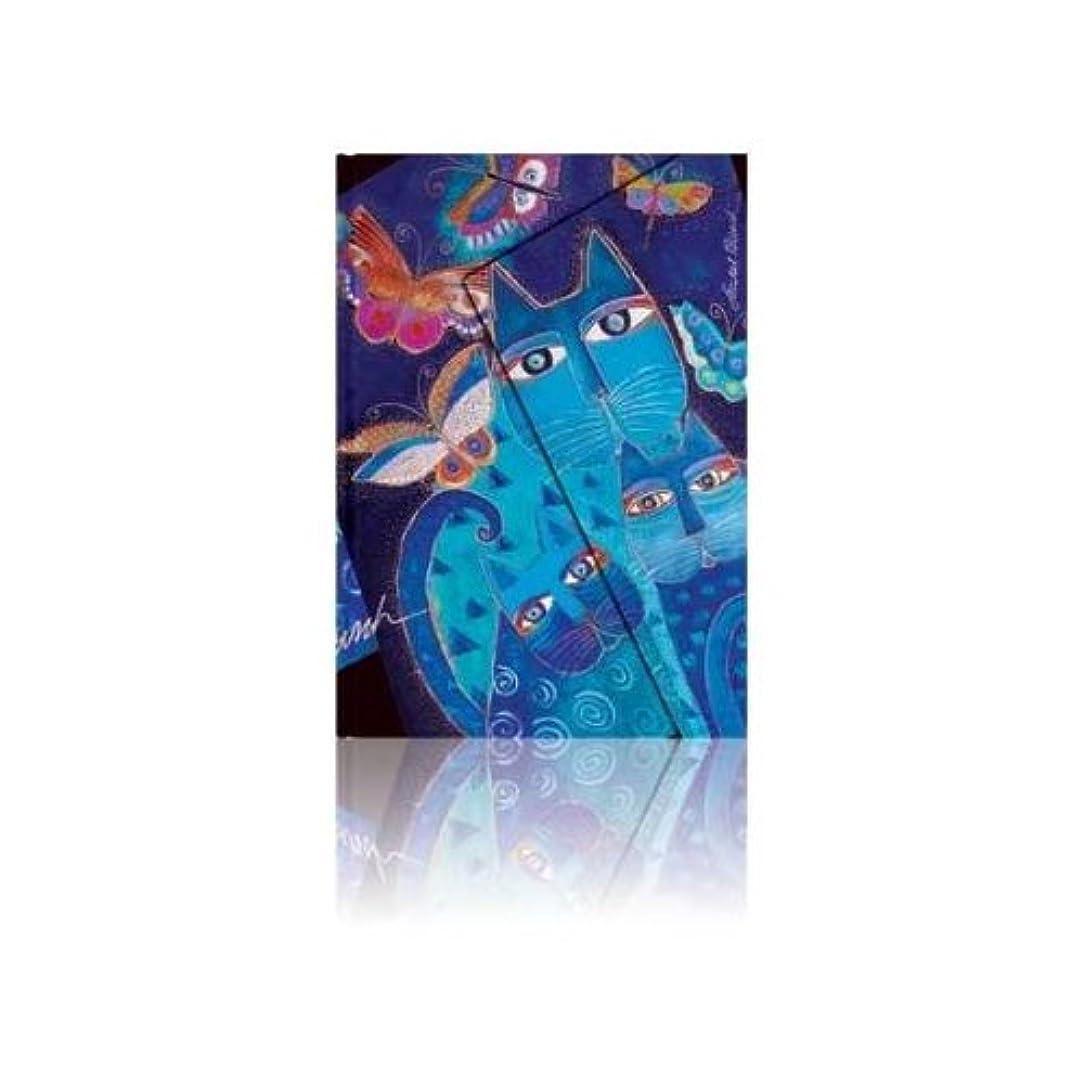 Fantastic Felines Journal: Lined Mini (Blue Cats & Butterflies)