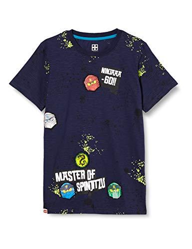 LEGO Jungen MWb Ninjago T-Shirt, 590 Dark Navy, 134