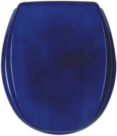 Luxus Design WC Sitz KAN 2001 Farbe blau metallic Hochwertiger WC Sitz Made in Sweden