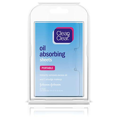 Clean & Clear Oil-Absorbing Sheets, 50 Count (Pack of 2) by Clean & Clear [Beauty] (English Manual)