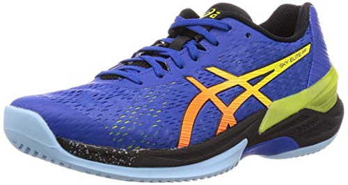 ASICS Mens 1051A031-400_42.5 Volleyball Shoes, Bleu Jaune, EU