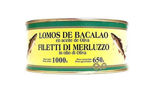 Bacalao en Aceite de Oliva COSTA VASCA - 1000 grs. - [4 unidades]
