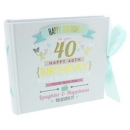 ukgiftstoreonline - Álbum de fotos para 40 cumpleaños (capacidad para 80 fotos de 15 x 4 cm)