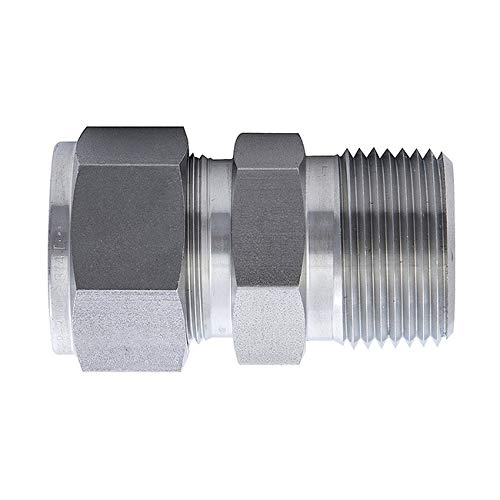 304 Stainless Steel Compression Tube Fitting Double Ferrule Joint Connector Equal Straight Adapter /Φ1//2-/Φ1//2