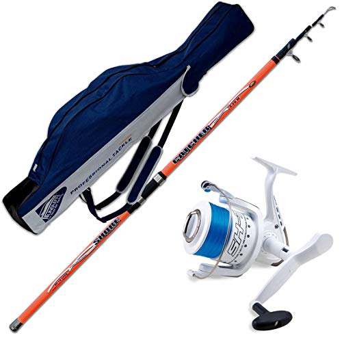 Evo fishing Canna Catcher 390 CM 200 GR + Mulinello SHIZUKA SK7 7000 + Fodero PORTACANNE