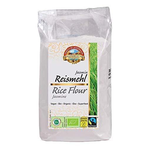 Harina de arroz Jazmín de comercio justo orgánica 3kg ecológica, Fairtrade, sin gluten 3kg Bio biológica, sin OMG 6x500g