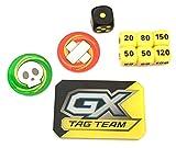 Pokemon Pikachu & Zekrom Battle Deck Exclusive Dice & Damage Counters - Poison Burn GX Markers - Black & Yellow