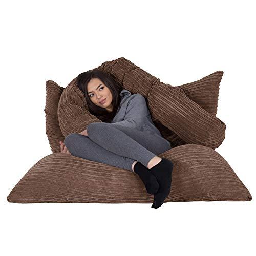 Lounge Pug®, Riesen Sitzsack XXL, Sitzkissen, Cord Mocca