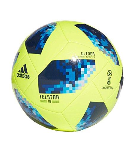 adidas Copa Mundial de Prendas de Vestir Unisex Rusia Telstar–2018Glider–Balón de fútbol - CE8097, Core Black/White/Solar Red