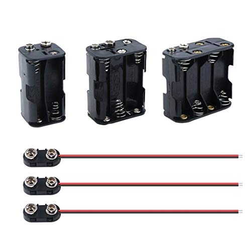 3Pcs 4/6/8 X 1.5V AA Battery Holder with Standard Snap Connector