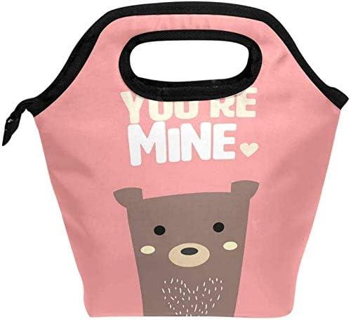 Bear PinkLunch bag heat insulation lunch box handbag keep food f