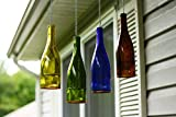 Blue Ridge Mountain Gifts Hanging Glass Wine Bottle Lantern, Tea Candle Holder (4, Assorted)
