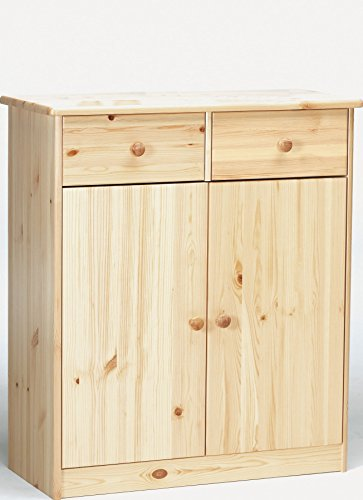 Erst-Holz® 90.50-27 Kommode Sideboard Anrichte Kiefer massiv 2 Türen 2 Schubladen