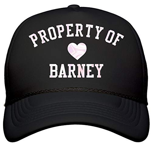 FunnyShirts.org Property of Barney Heart Hat: Snapback Trucker Hat Black