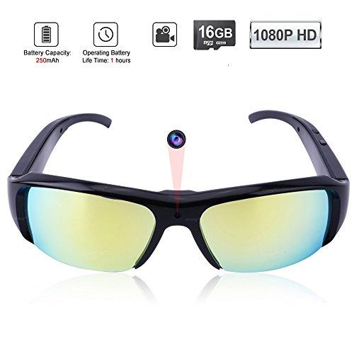 Wiseup - Occhiali da sole con videocamera integrata HD, 8GB, 1920x 1080p, per attività sportive