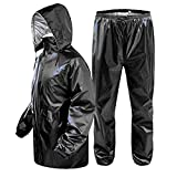 Magic Attitude Men's Waterproof Raincoat Reversible Free Size Black