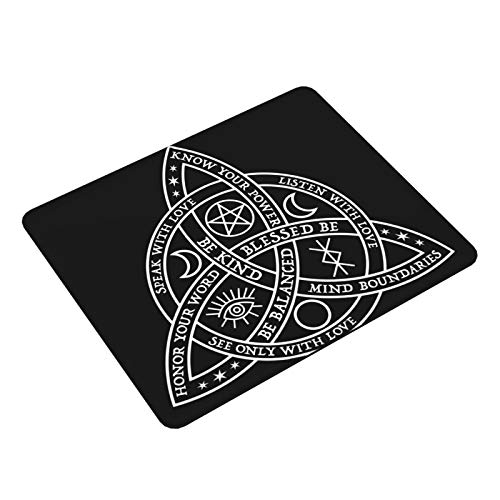 MichPong Good Witch Celtic Knot Mouse Pad Desk Pad Non-Slip Rectangular 2530cm Thick and Durable for Gaming,Learning and Office